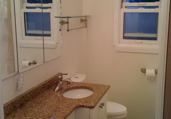 Bathroom with Narrow Vanity