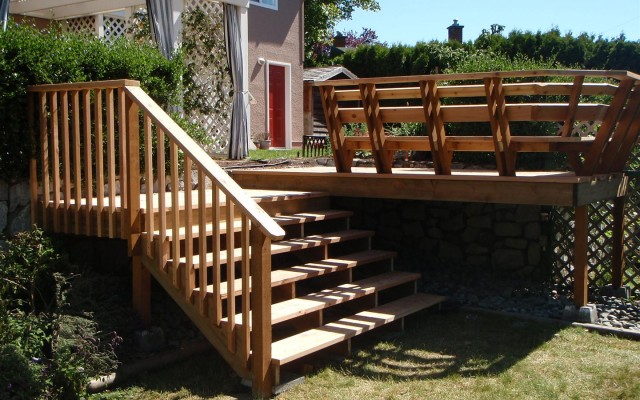Deck, Stairs and Bench
