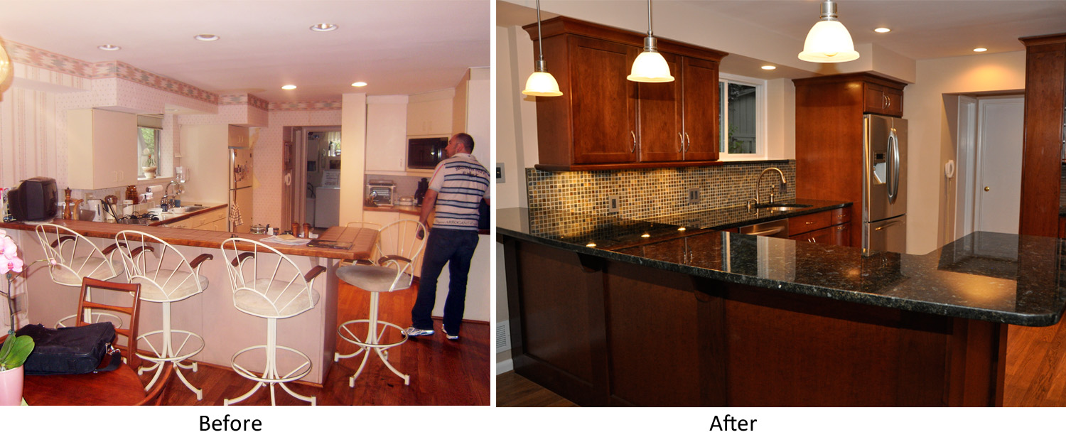for Kitchen renovation before and after